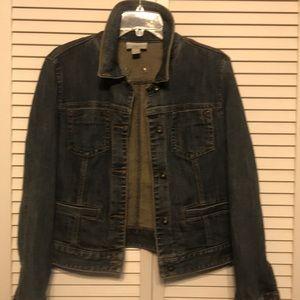 Ann Taylor Loft Denim Jean Jacket Size 12